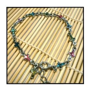 💞✝💞 Shell inlaid cross bracelet